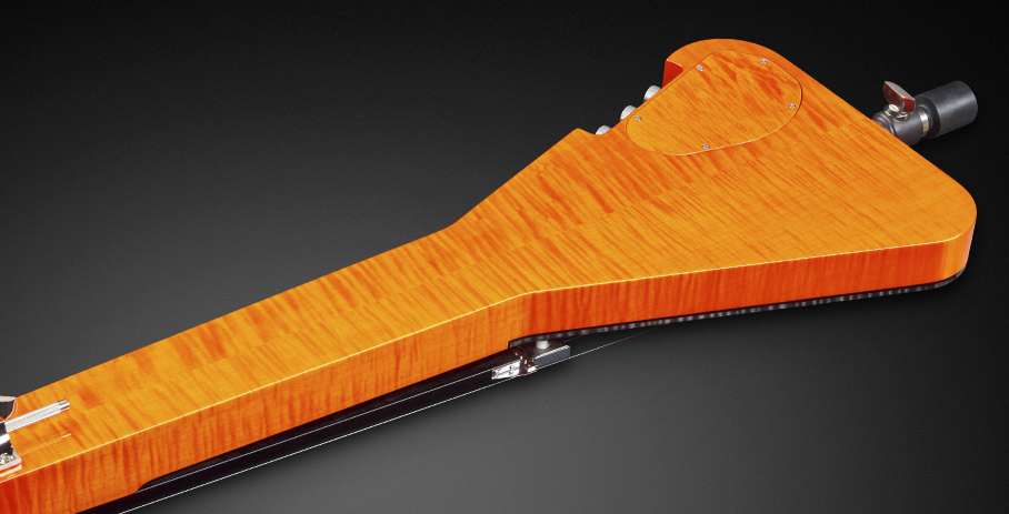 Triumph #18-3738 - Flamed Maple Neck, Back and Sides